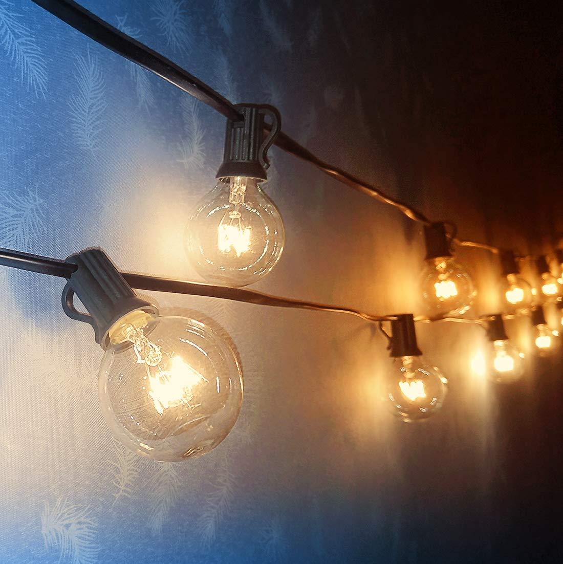 Koopower 25FT G40 Lichterkette Außen, 25er Lichterkette Gluehbirne Aussen,Wasserdichte