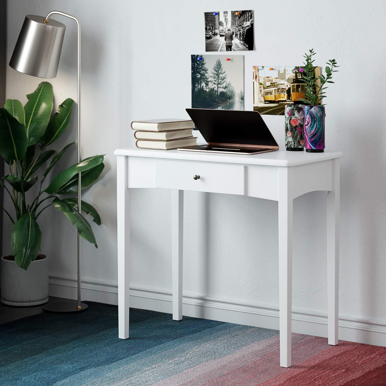 Homfa Schreibtisch 1 Schublade Schminktisch Arbeitstisch Computertisch Esstisch