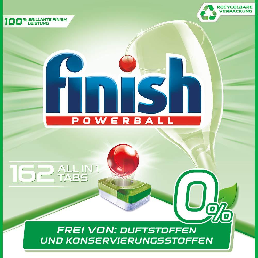 Finish 0% Spülmaschinentabs, brillante Reinigung ohne Duft- Und Konservierungsstoffe