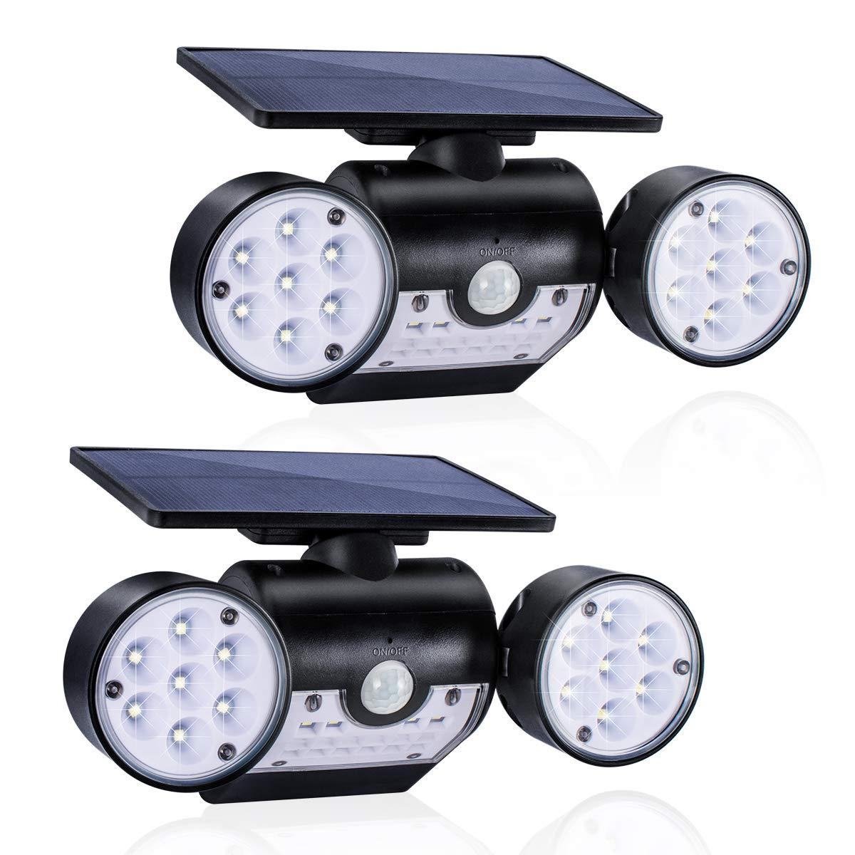 GIANTARM 2 Stück LED Solarleuchte für Außen