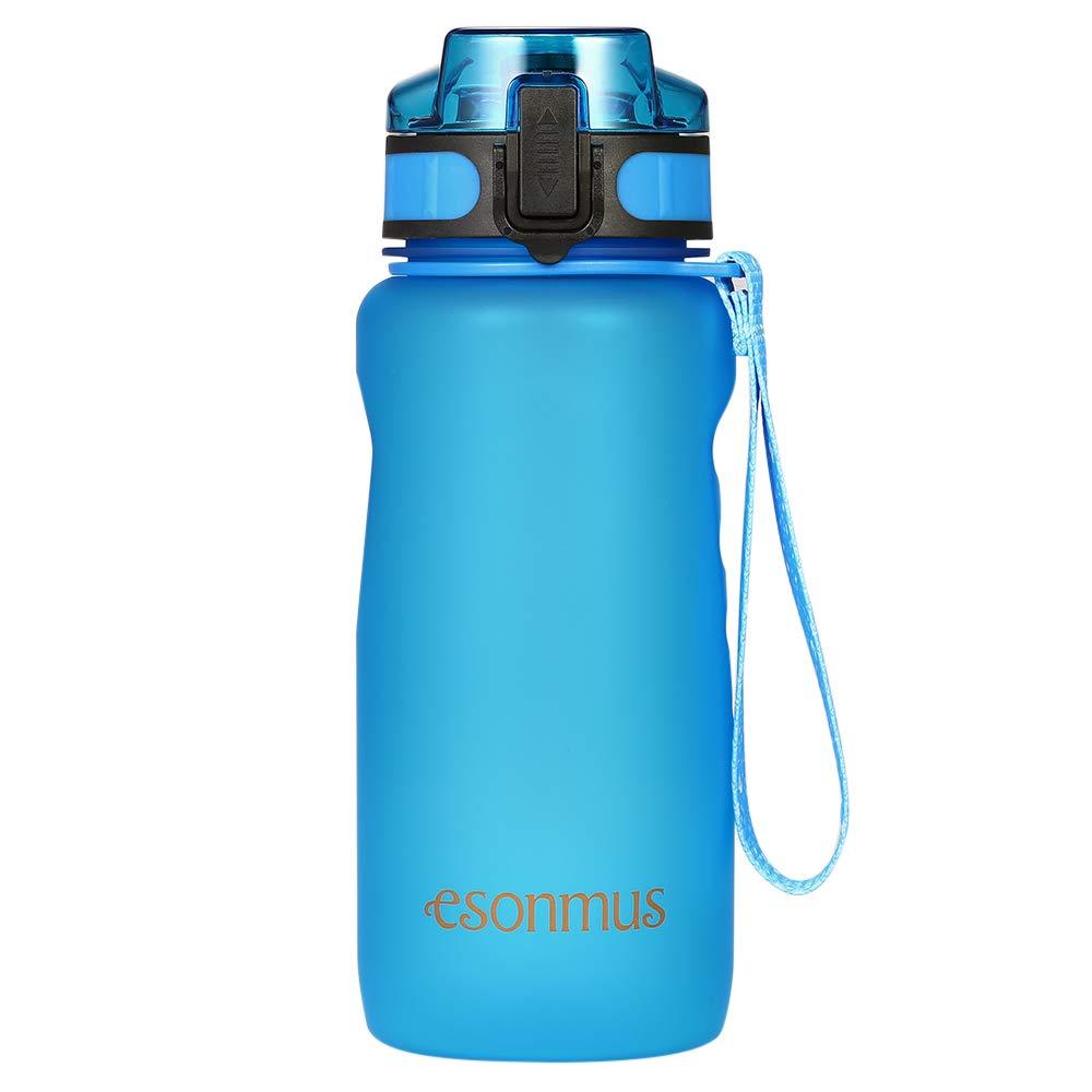 esonmus Sport Wasserflasche 650ML Auslaufsicher Trinkflaschen BPA-frei für Outdoor