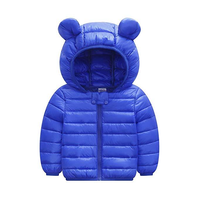Baby Winter Jacke Jungen Mädchen Mäntel Cartoon Bärenohren Daunenjacke