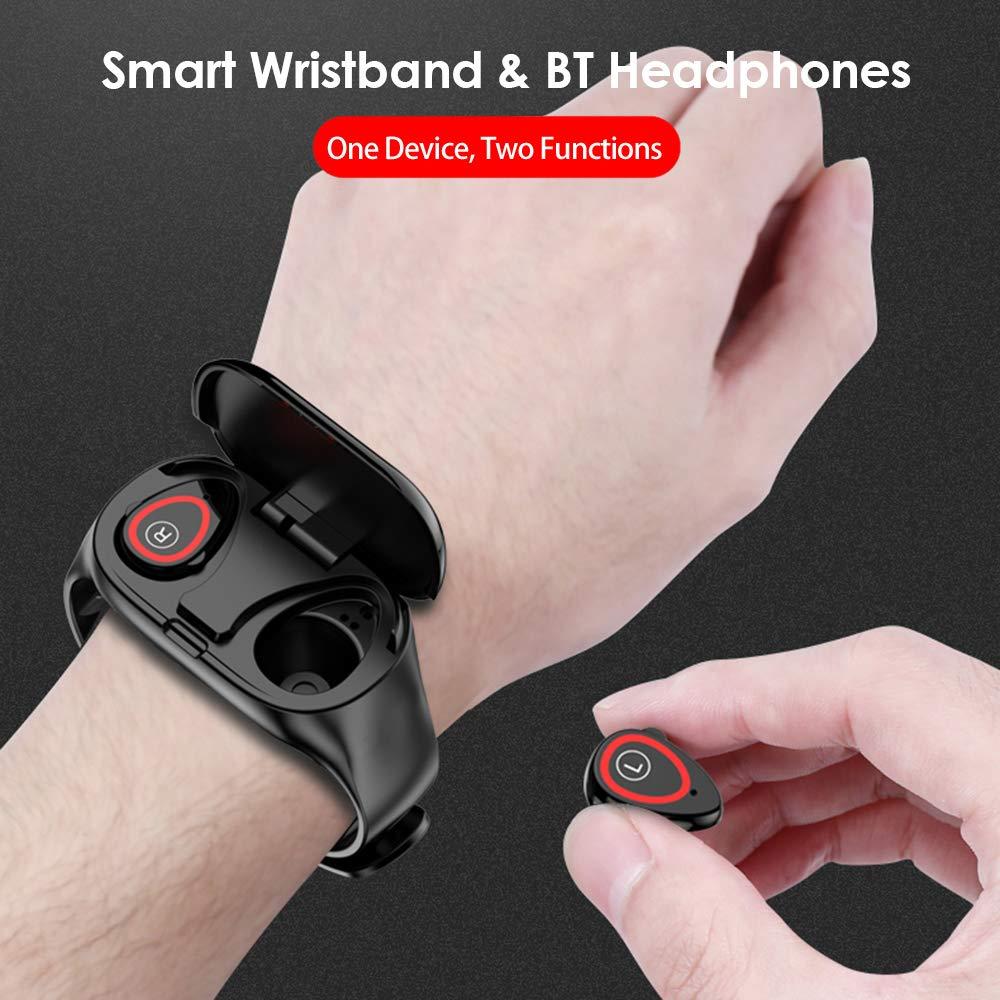 Docooler 2-in-1-Smartwatch mit TWS Earbuds Fitness Tracker Echte kabellose Kopfhörer