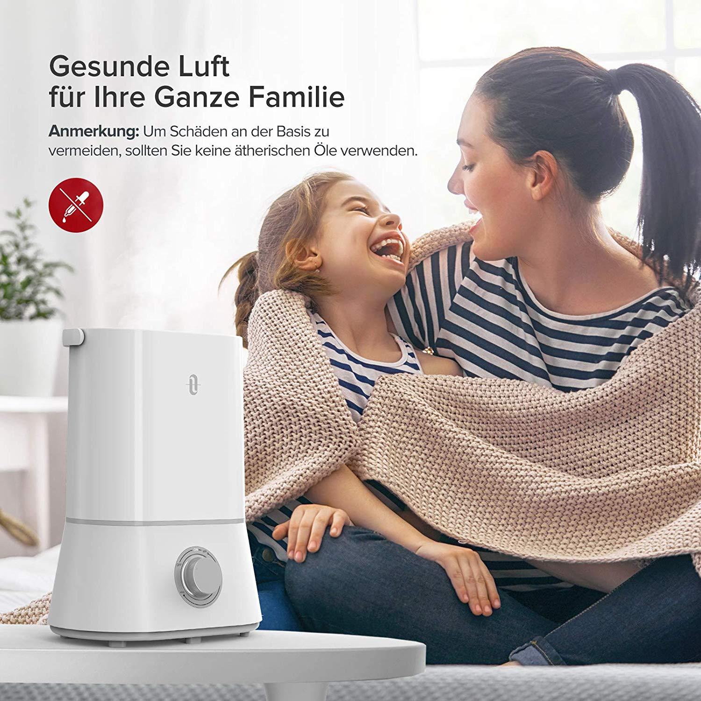 TaoTronics Luftbefeuchter Ultraschall für Kinderzimmer Baby Wohnung Büro Raumbefeuchter