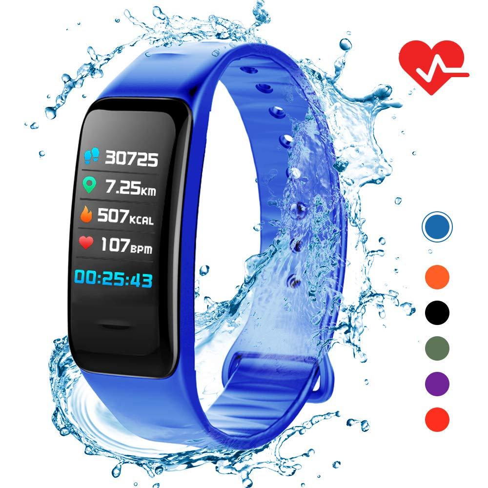 Lixada Smart Armband IP67 Damen Herren Fitness Tracker Uhr mit Herzfrequenz