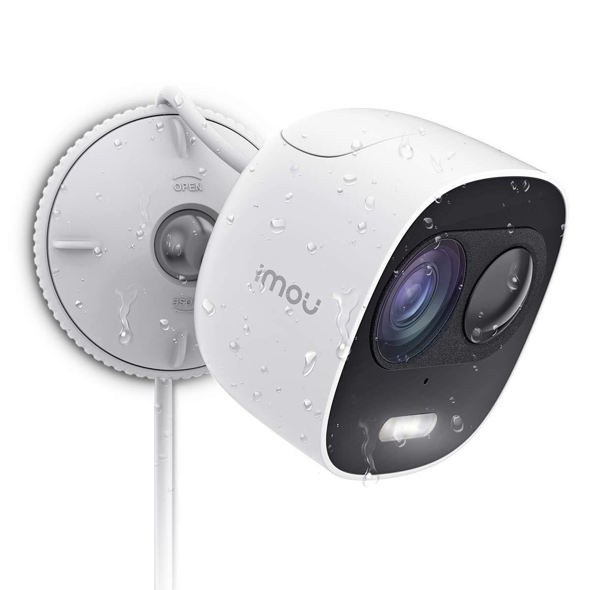 Überwachungskamera Aussen 1080P, mit 110db Sirene & Licht Alarm