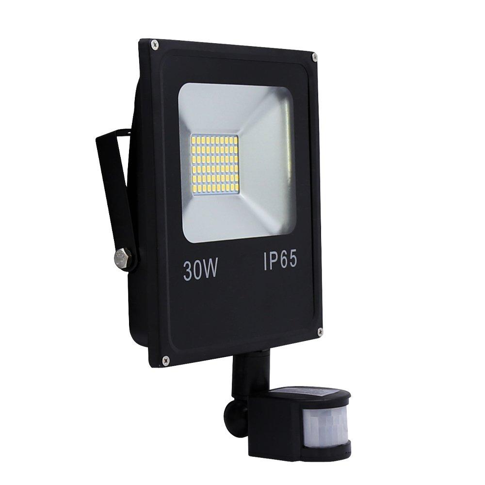 Hengda LED Strahler mit Bewegungsmelder 30W 2400LM LED Fluter Außenstrahler