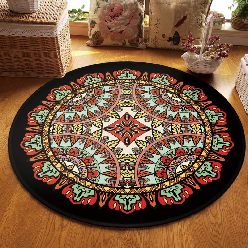 80% off Tiowea rutschfeste maschinenwaschbare runde Teppich Wohnzimmer Schlafzimmer weichen Teppich Bodenmatte Teppiche