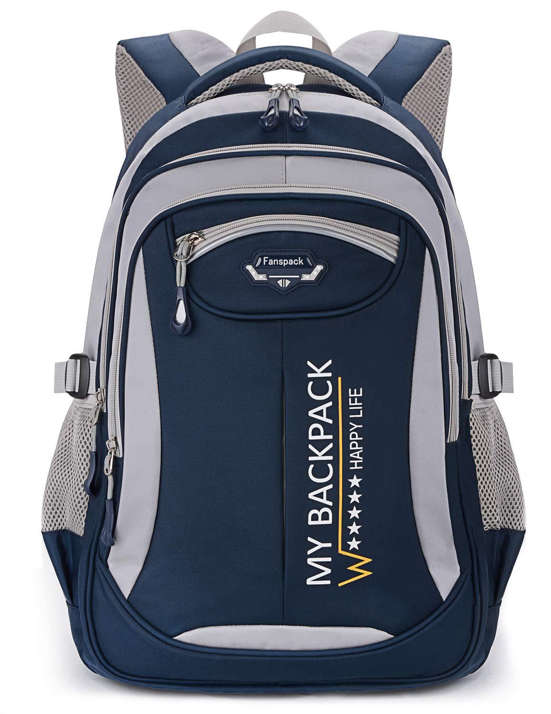 Schulrucksack,Fanspack Schulrucksack Jungen Teenager Schulranzen Jungen Kinderrucksack Daypack Schultasche