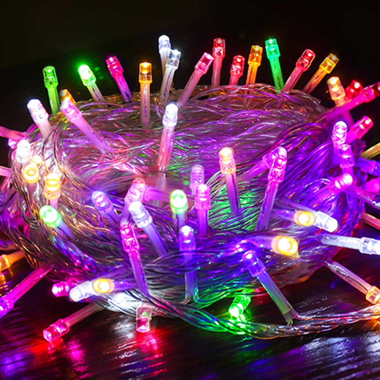 VINGO Innen und Außen LED Lichterkette Außenlichterkette Weihnachtsbeleuchtung Wasserdicht