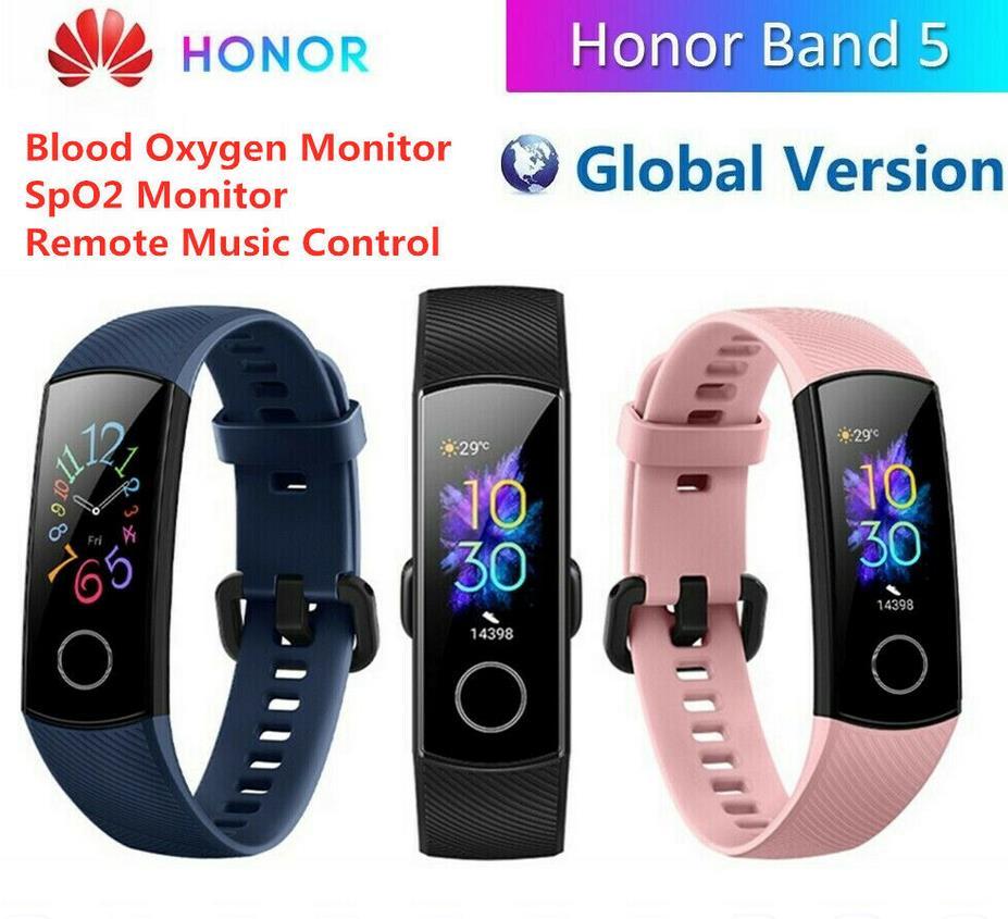 HUAWEI HONOR Band 5 BT4.2 0.95″ Smart Watch Bracelet Full Color AMOLED Display