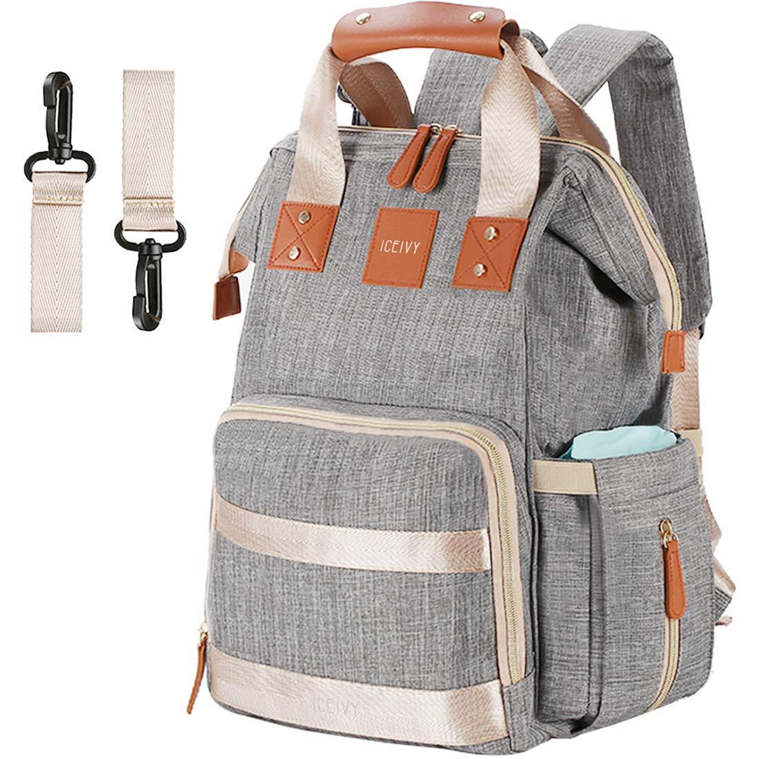 ICEIVY Multifunktional Baby Tasche Wasserdicht Wickeltasche Rucksack