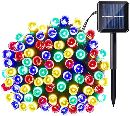 Lixada Solar Lichterketten 72ft 200 LED IP65 Dekorative Lichterketten