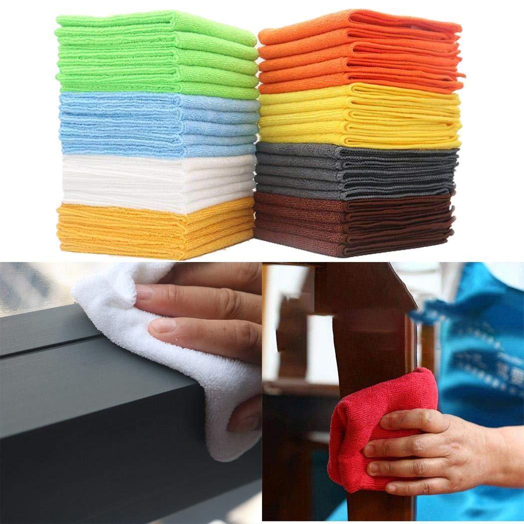 80% off cietact 5 Stück Mikrofaser Reinigungstuch Spültuch Super Wasseraufnahme Weiche Reinigungstücher