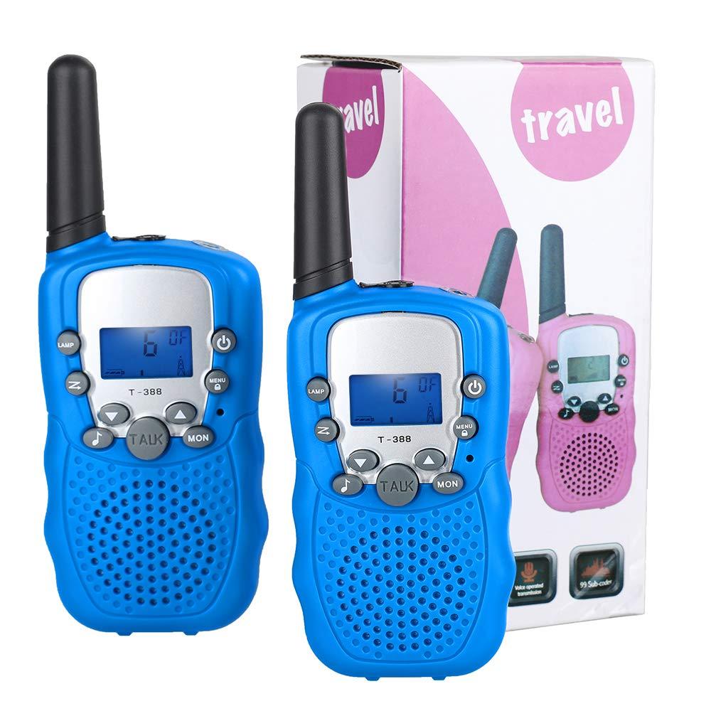Lictin Walkie Talkie Kinder Funkgeräte – 3km Reichweite 8 Kanäle Walki Talki mit Taschenlampe Spielzeug Geschenk für Kinder