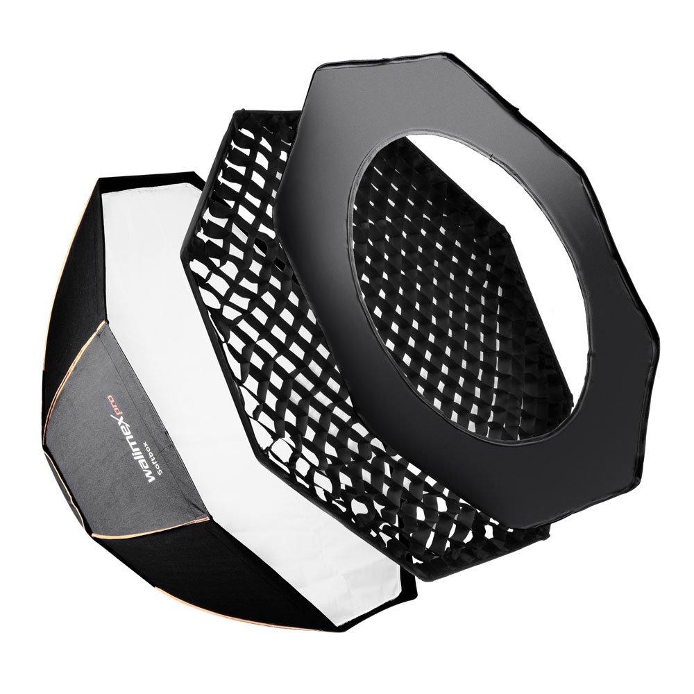 Walimex Pro Octagon Softbox PLUS Orange Line 90 cm Durchmesser für Electra Small