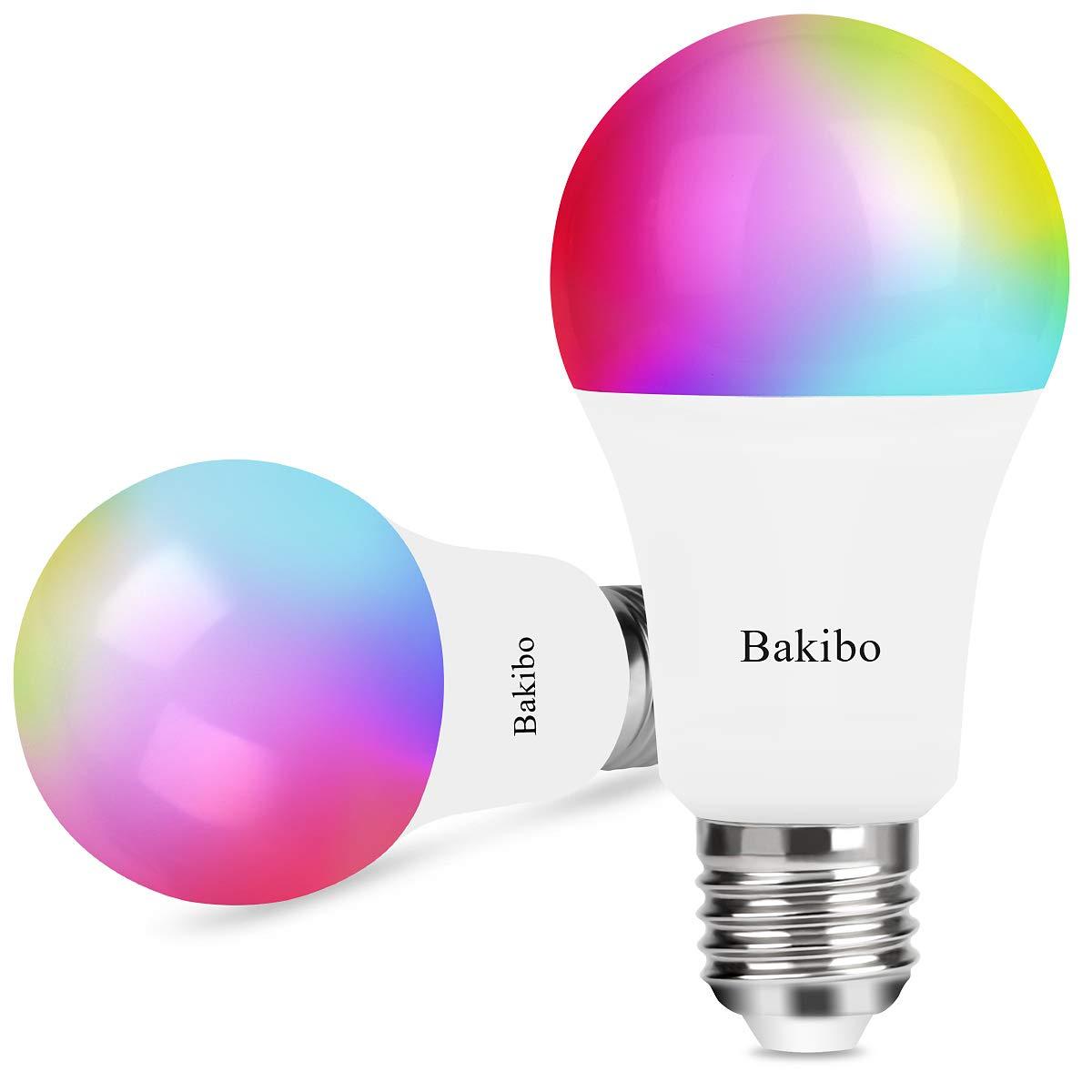bakibo Smart WLAN LED Lampen Glühbirne Dimmbar 9W 1000Lm