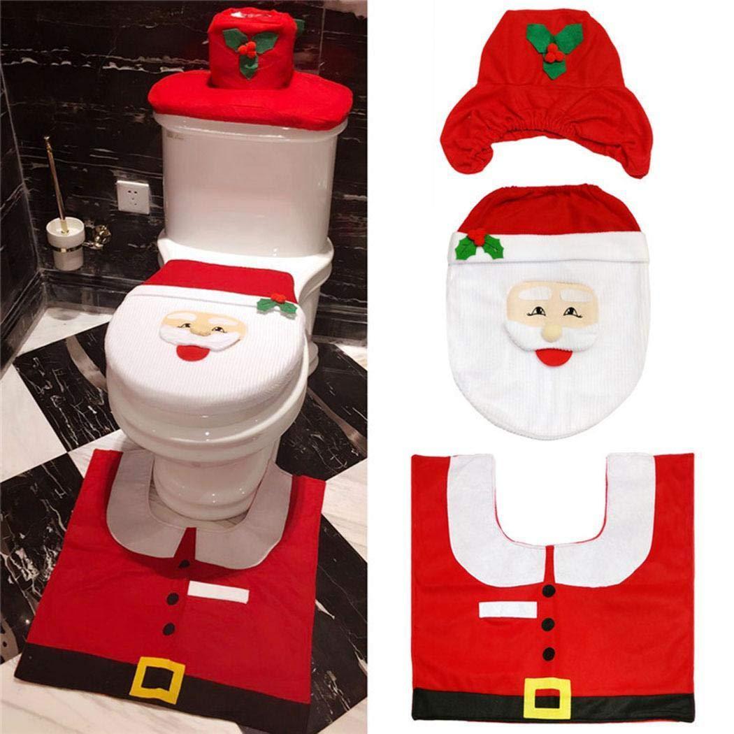 Tiowea Niedliche Cartoon-Form-weiche Toiletten-Deckel-Abdeckungs-Badezimmer-Weihnachtsverzierung