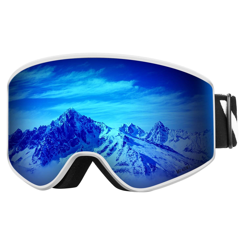 VELAZZIO OTG Skibrille, Snowboard-Brille – Austauschbare Zweischichtlinse