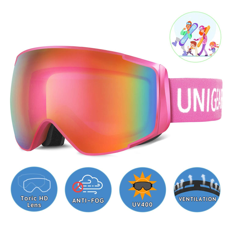 Unigear Skibrille, Skido X2, Eltern-Kind-Snowboardbrille Hyperboloid
