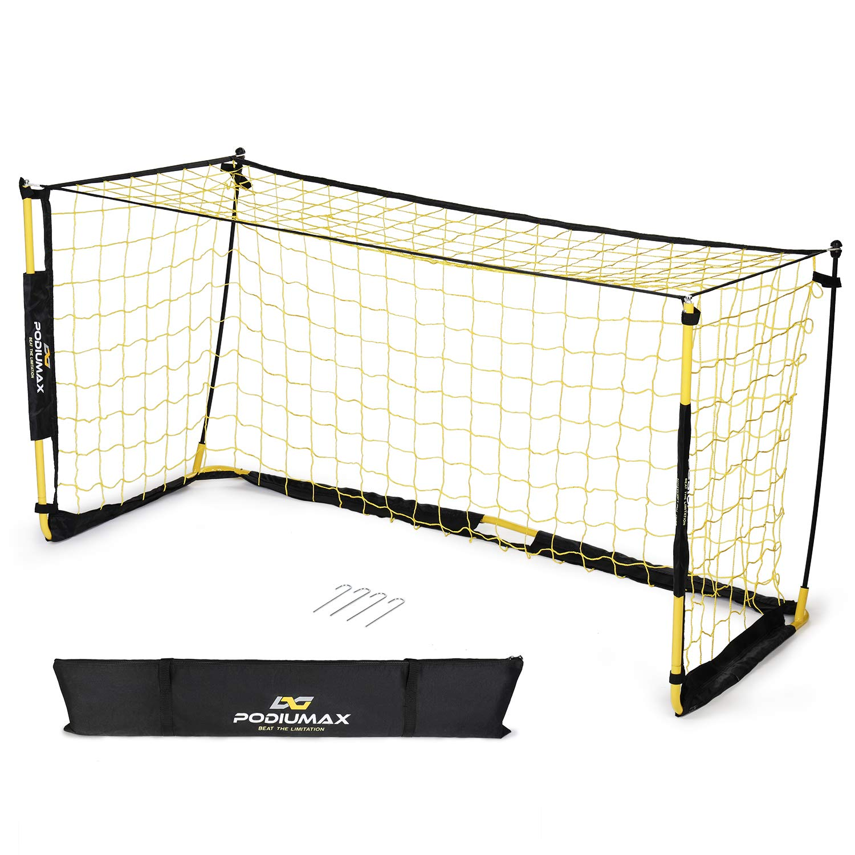 PodiuMax Tragbar Mini Fußballtor, Faltbar Fussballtor mit Tragtasche