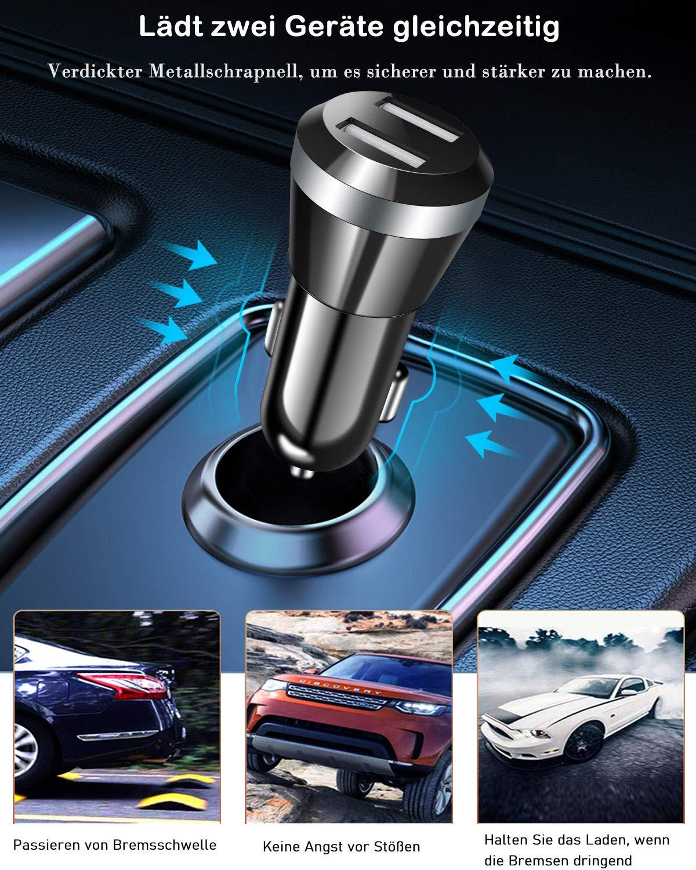 Zeuste Auto Ladegerät Quick Charge Ladegerät Adapter Dual USB Auto Ladeadapter