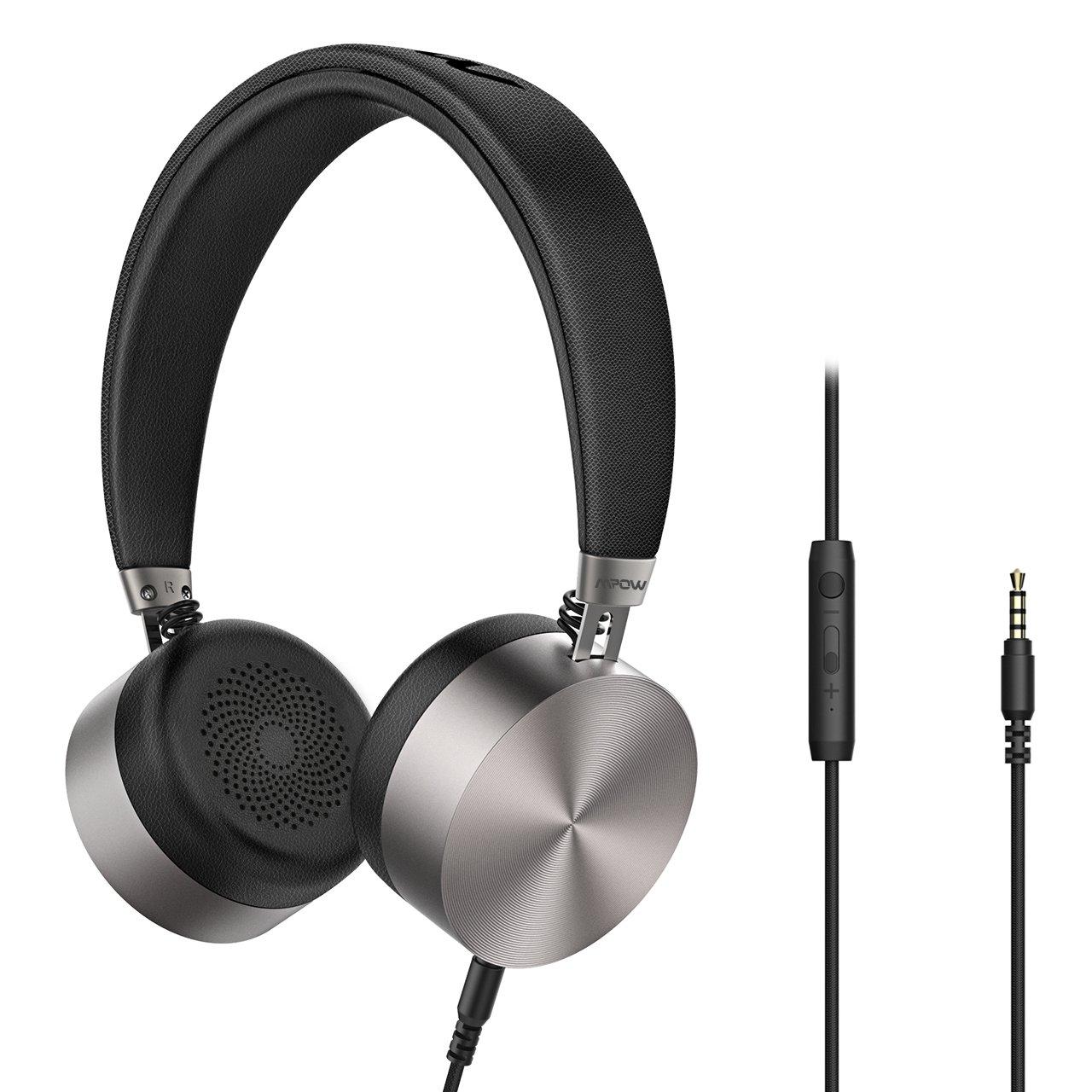 Mpow On-Ear Kopfhörer, HC1 Hi-Fi Stereo Ohrhörer mit Mikrofon und Lautstärkeregler