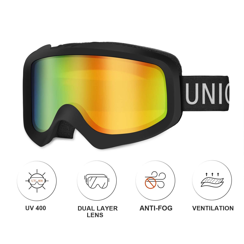 Unigear Skibrille, OTG Snowboard Brille UV-Schutz Schneebrille