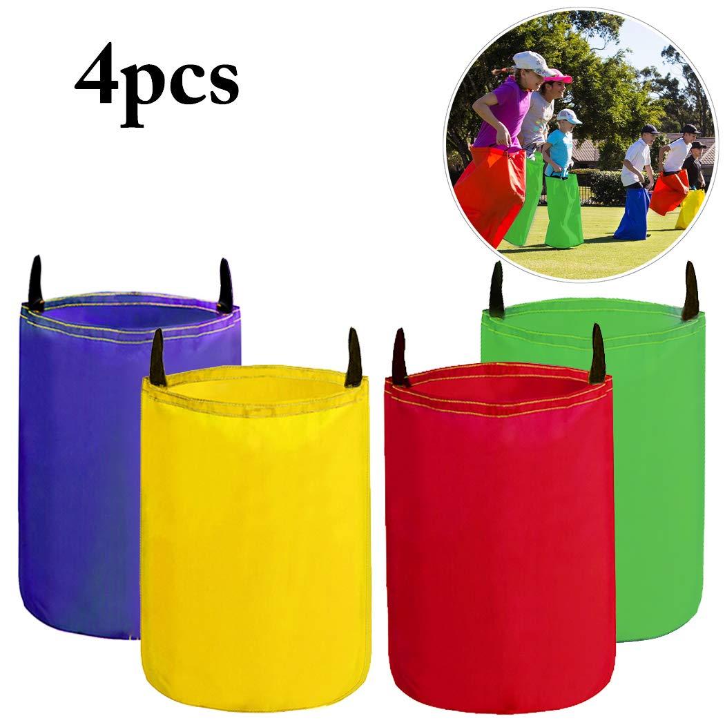 Hüpfsäcke für Kinder, Joyibay 4 Stück Sackhüpfen Outdoor Spielset