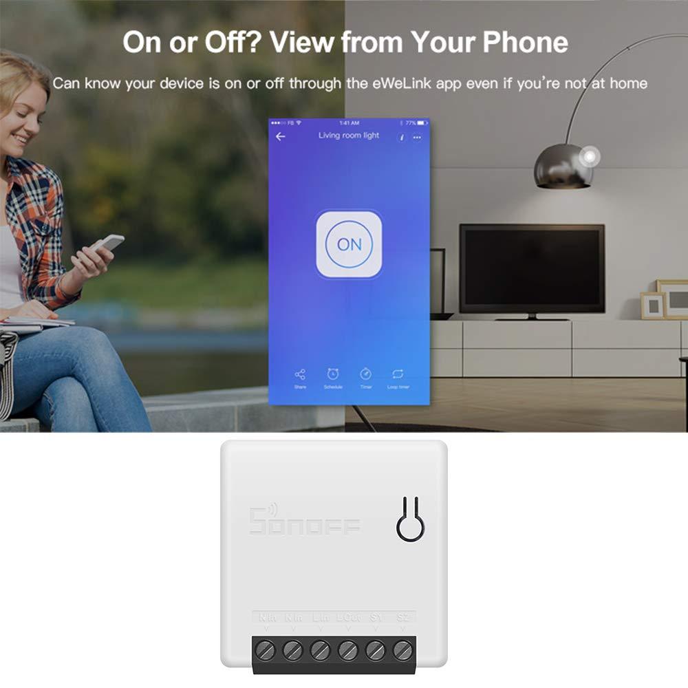 OWSOO SONOFF Mini DIY Zwei-Wege-Smart-Switch Kleine Fernbedienung WiFi-Switch