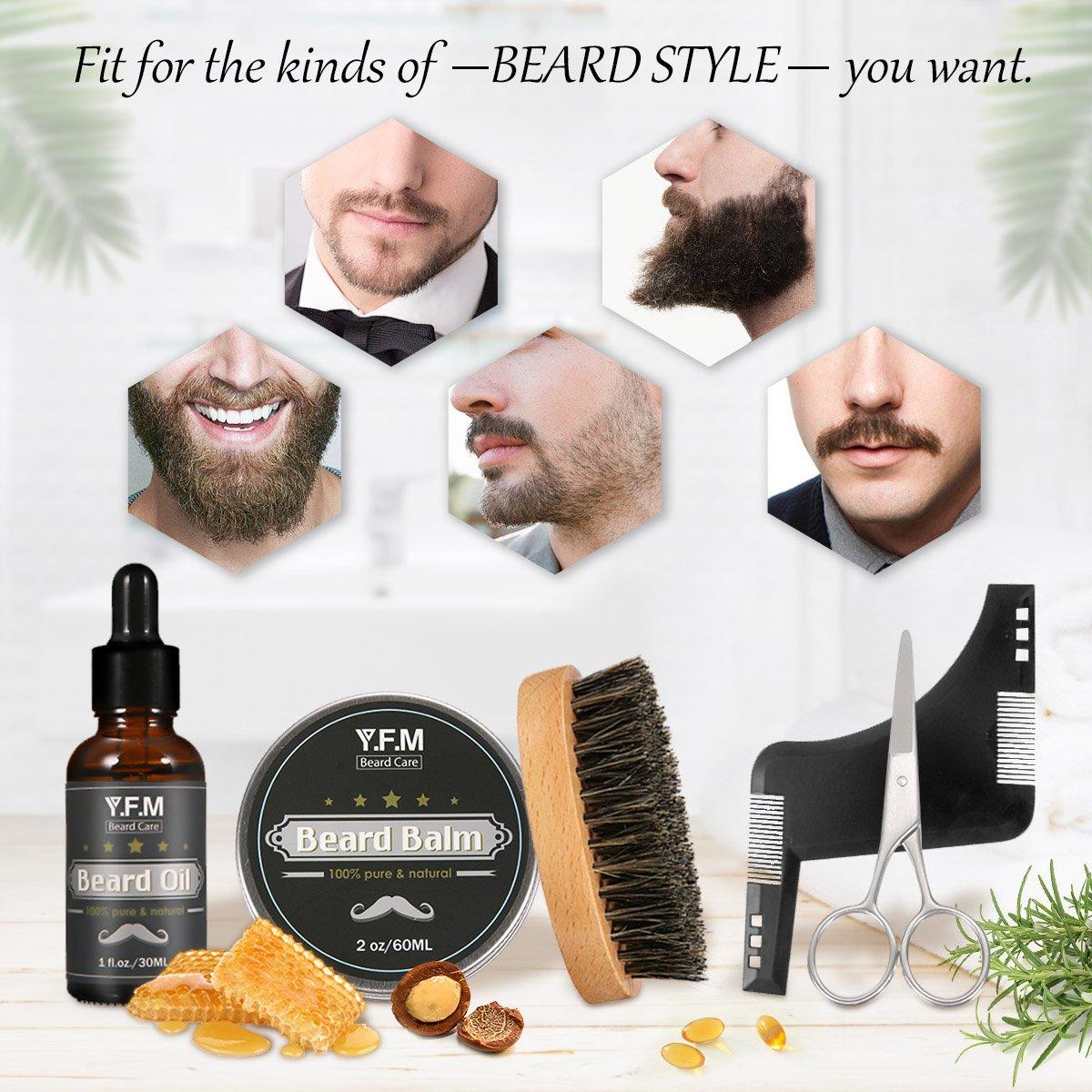 Bartpflege Set, Y.F.M Männer Bart Styling Reinigung Werkzeug