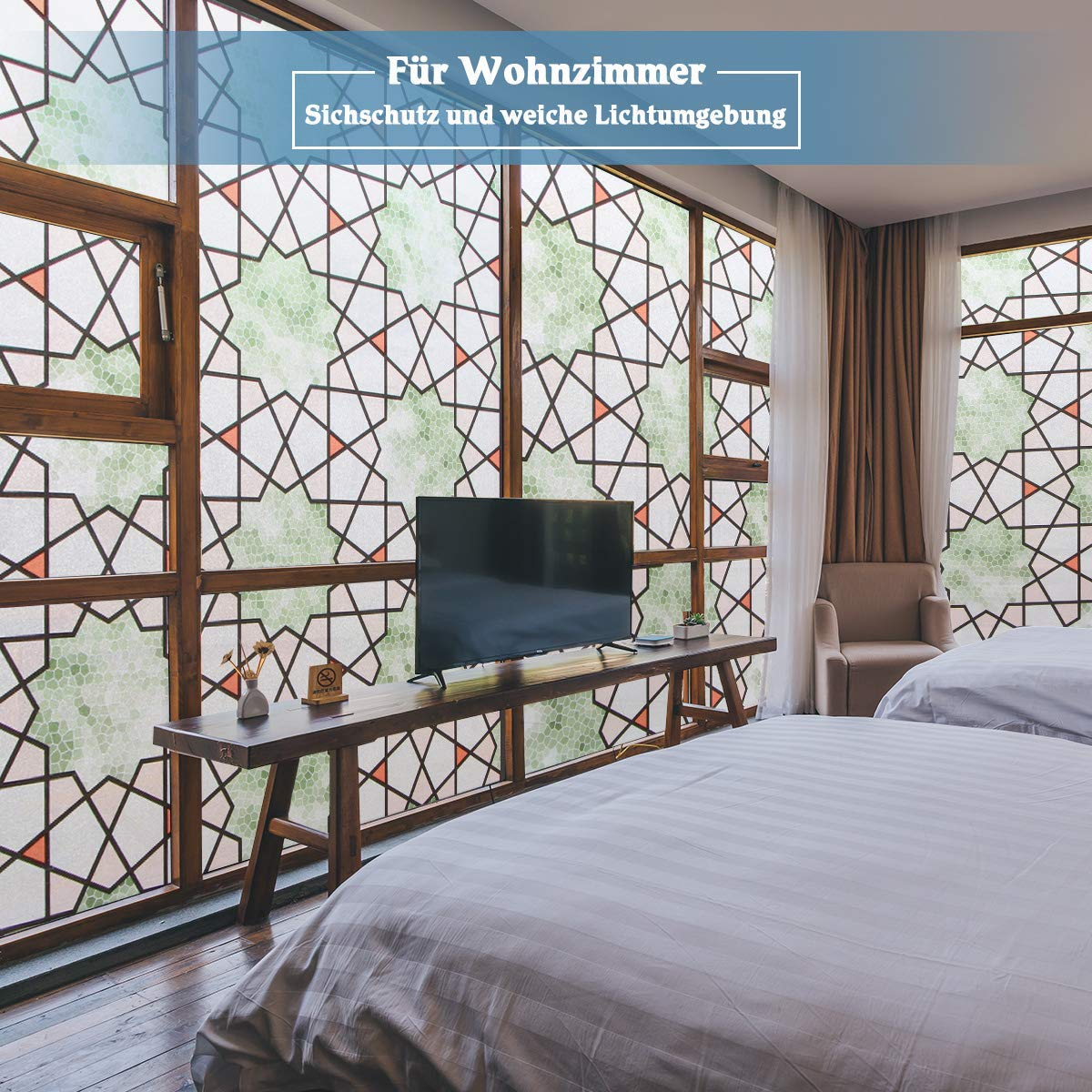 Grandekor Fensterfolie selbsthaftend Blickdicht