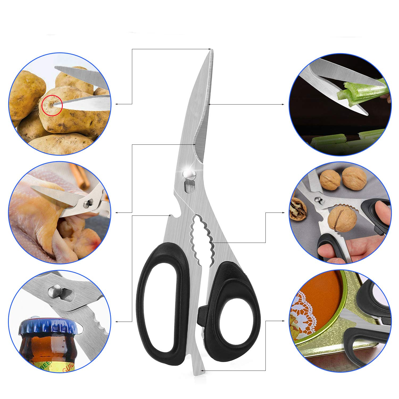 Edelstahl Küchenschere zerlegbar,Geflügelschere für Fleisch und Gemüse