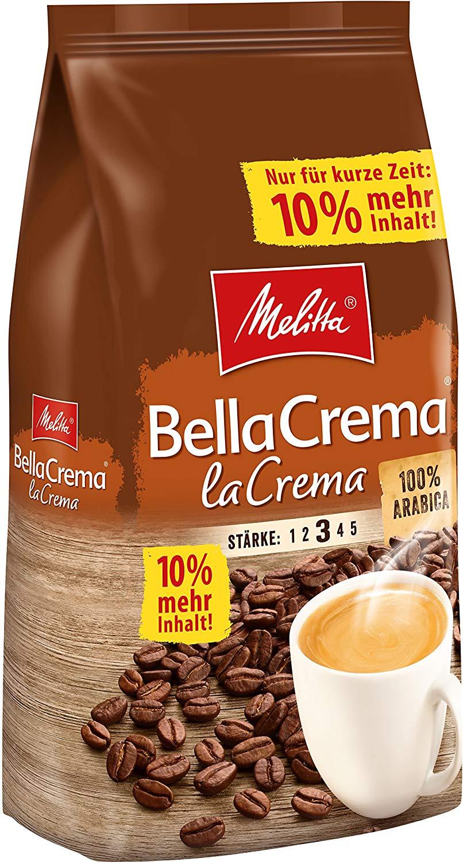 Melitta Ganze Kaffeebohnen, 100% Arabica Bella Crema LaCrema 1,1kg