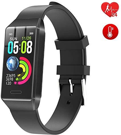 BingoFit Fitness Armband Kinder Uhr mit Pulsmesser