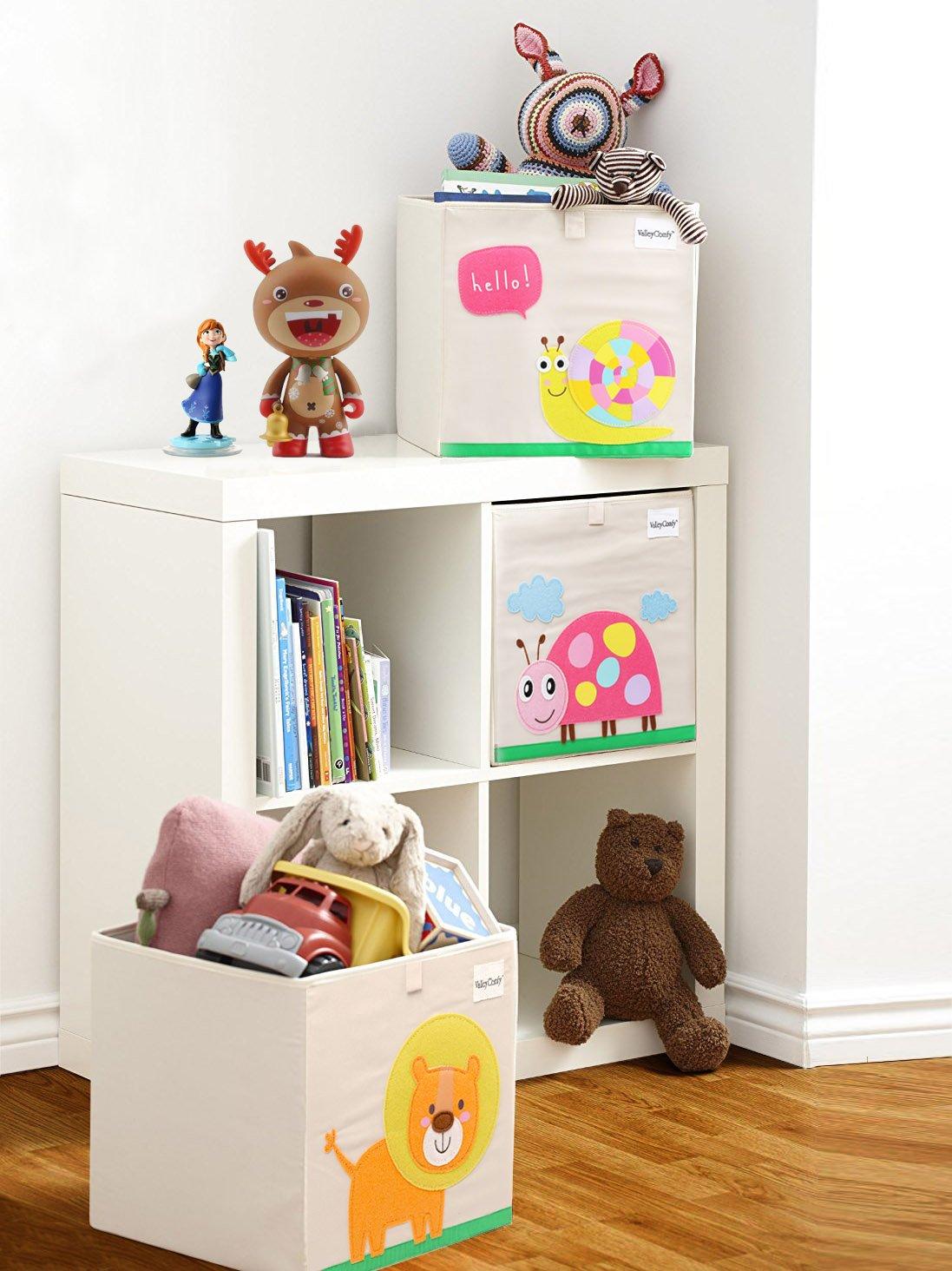 Valleycomfy Aufbewahrungsbox Spielzeugkiste Faltbar Cartoon Cube Organizer Closet Korb