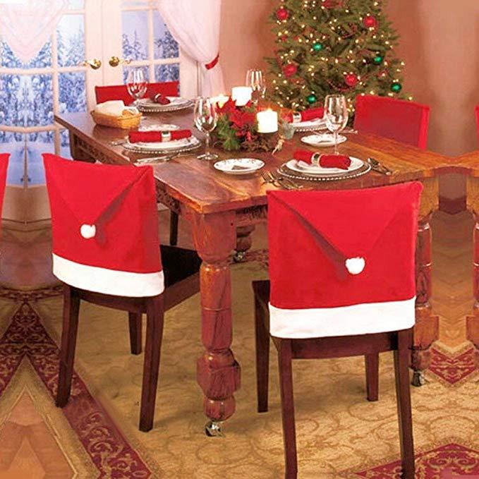 75% off  Ansenesna Stuhlhussen Weihnachten Deko Elch Weihnachtsmann Schneemann Husse Rentier Stuhlüberzüge Christmas Dekoration