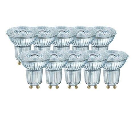 10 x OSRAM LED Base PAR16 Glas GU10 Strahler Spot 2.6W=35W 36° 2700K