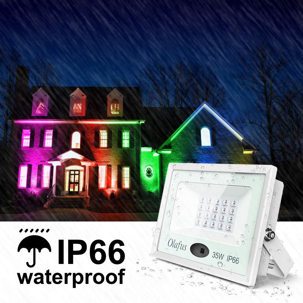 Olafus 2er RGB 35W LED Strahler mit Fernbedienung