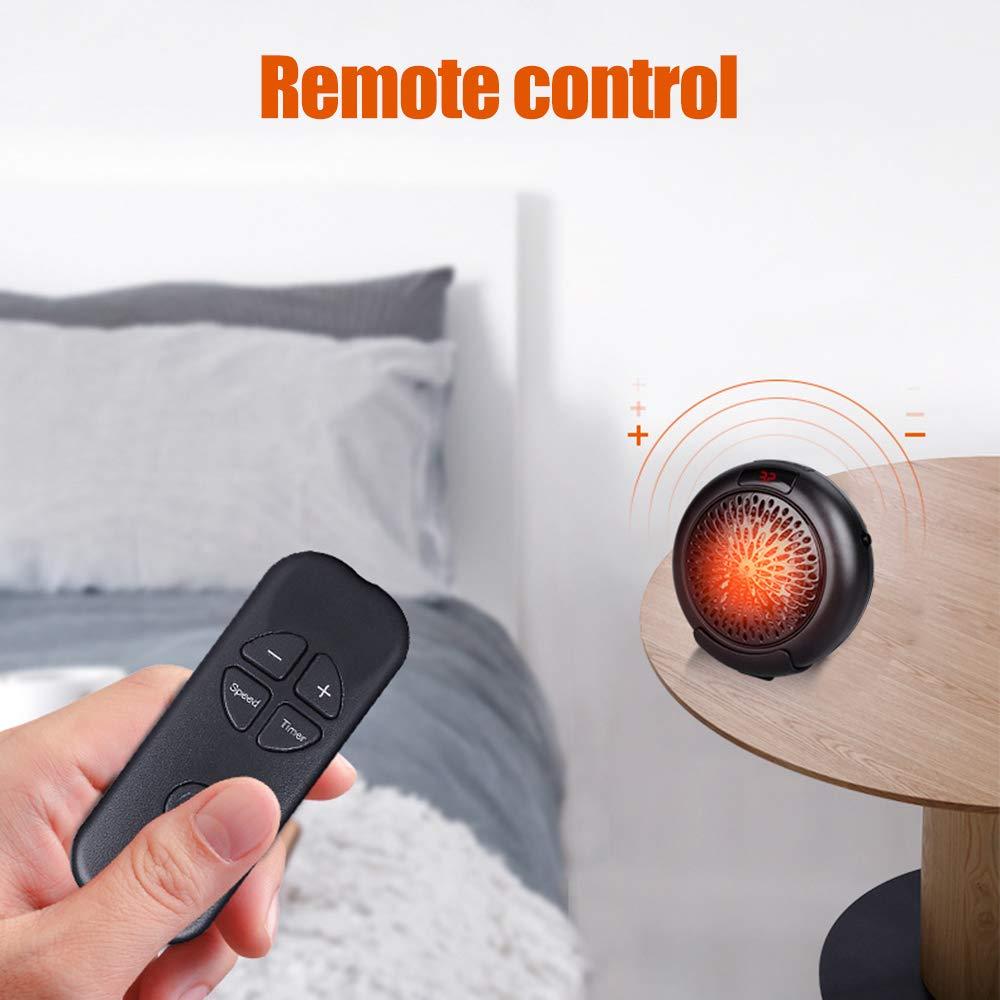 KKmoon Heizlüfter 400 W Heizung LED Display Klimaanlage Elektrische Lüfter