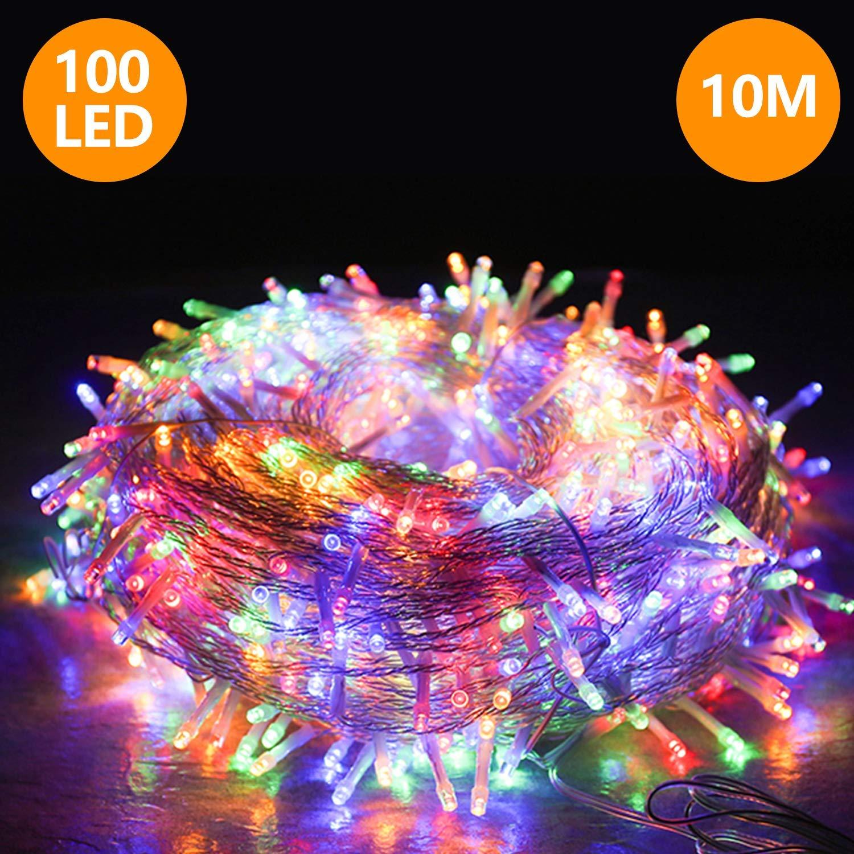 VINGO 10M 100 LED Lichterkette, 8 Modi