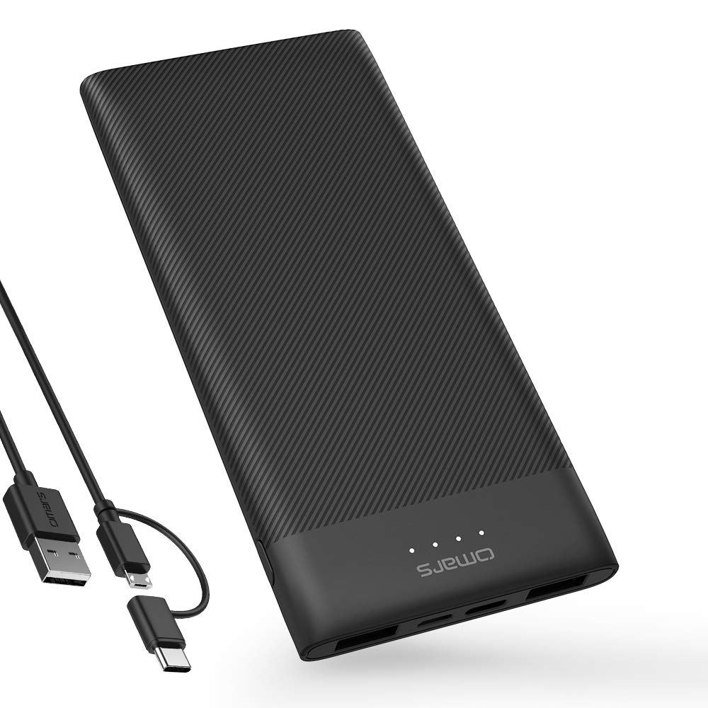 Omars 10000 mah Power Bank Ultra Slim Handy Externer Akku Tragbar Handy Ladegerät Powerbank