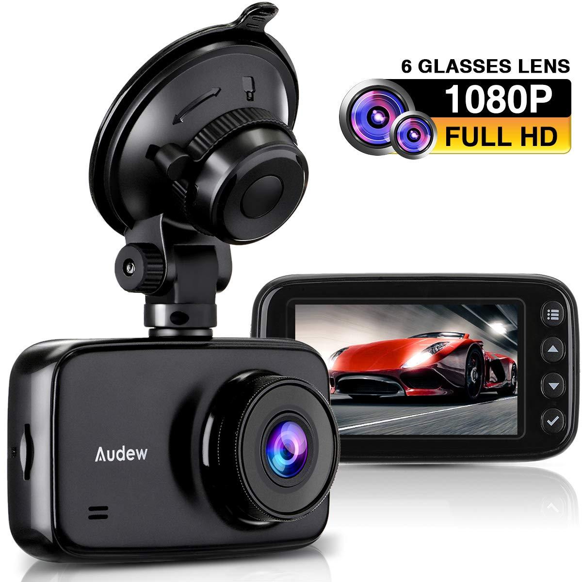 Audew Dashcam Autokamera 1080p Full HD DVR mit Nachtsicht