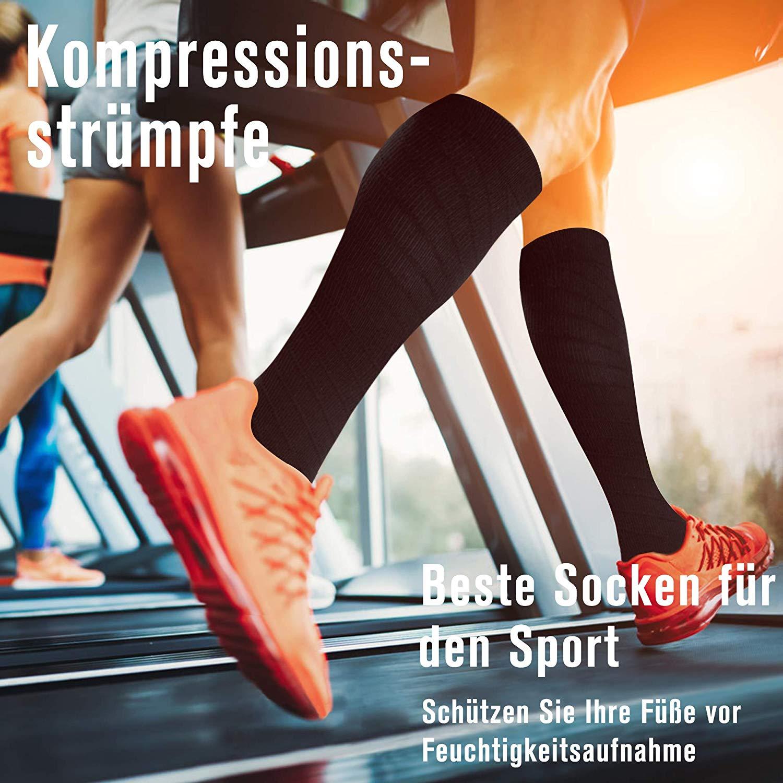 Fiream 2 Paar Kompressionsstrümpfe/Compressionsocks/Kompressionssocken