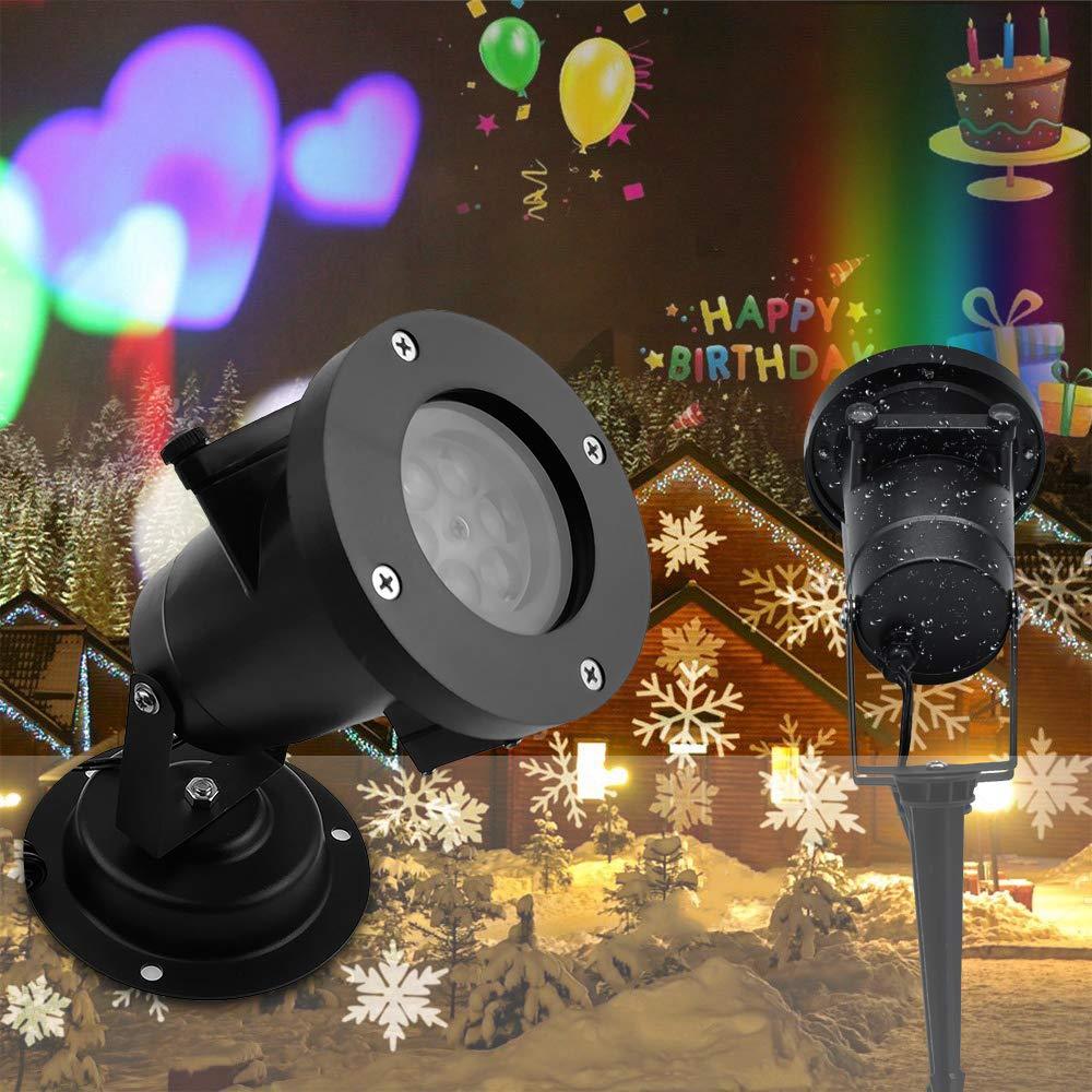 Weihnachten Projektor Lampe LED Projektionslampe Innen-/Außenbeleuchtung 12 Patterns