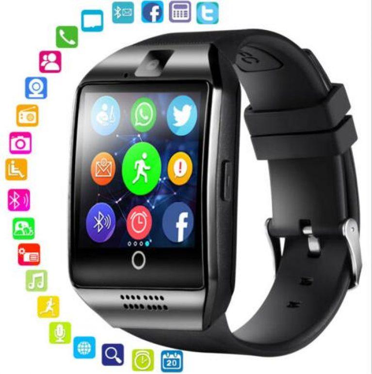 LEMFO Q18 Smartwatch Telefo Fitness Tracker SIM TF Kamera Für Android