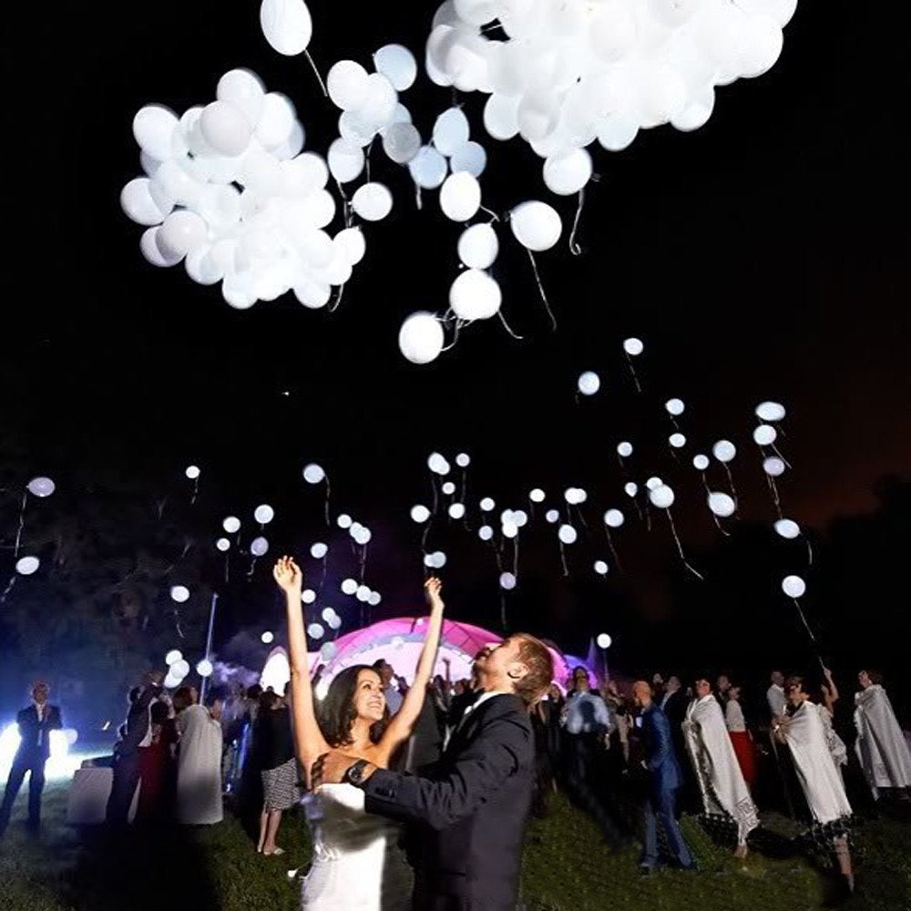 LED Leuchtende Weiß Luftballons 40 stück – 8 x 5 pack Gemischte Farbe