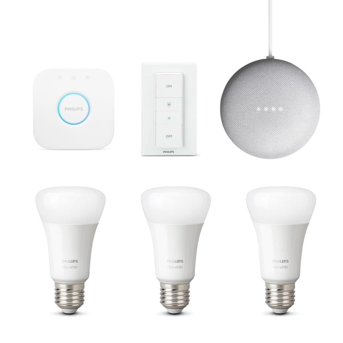 Philips Hue White E27 Bluetooth Starter Kit + gratis Google Home Mini