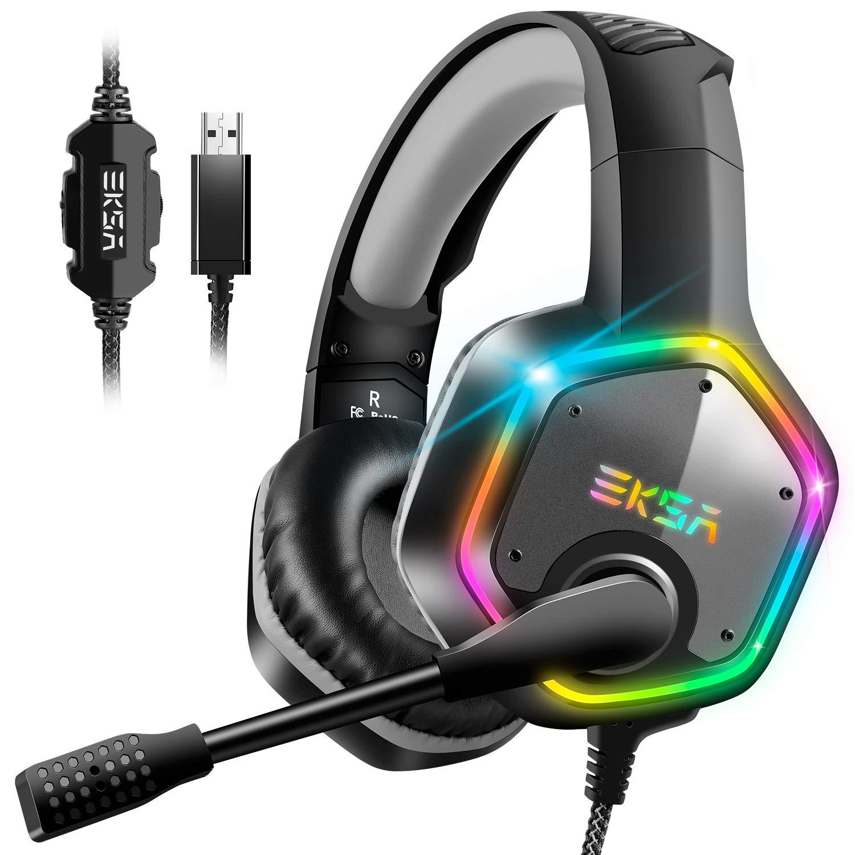 EKSA E1000 Gaming Headset für PS4 PC, Over-Ear Gaming Kopfhörer