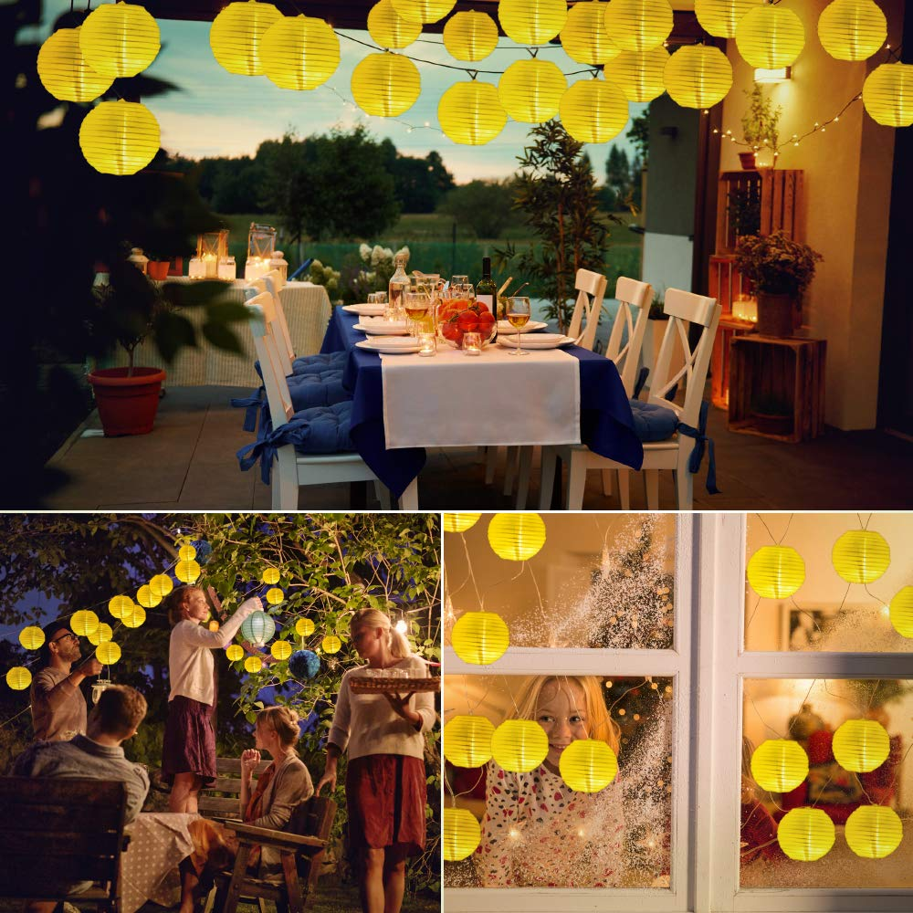 Solar Lichterketten Laternen, 30 Led Laternen Lichterkette Outdoor Solarleuchten